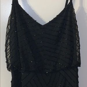 Adriana Papell Black Sequence Dress🖤✨